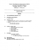 February 14, 2019, LR BID Executive Committee Meeting Agenda