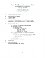 January 14 2019 Board Meeting Agenda